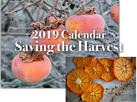 2019 Saving the Harvest Calendar
